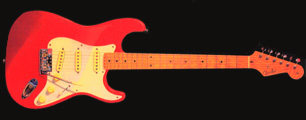 "Hank Marvin's ""Fiesta Red"" Stratocaster which was ordered for him from America by Cliff Richard"