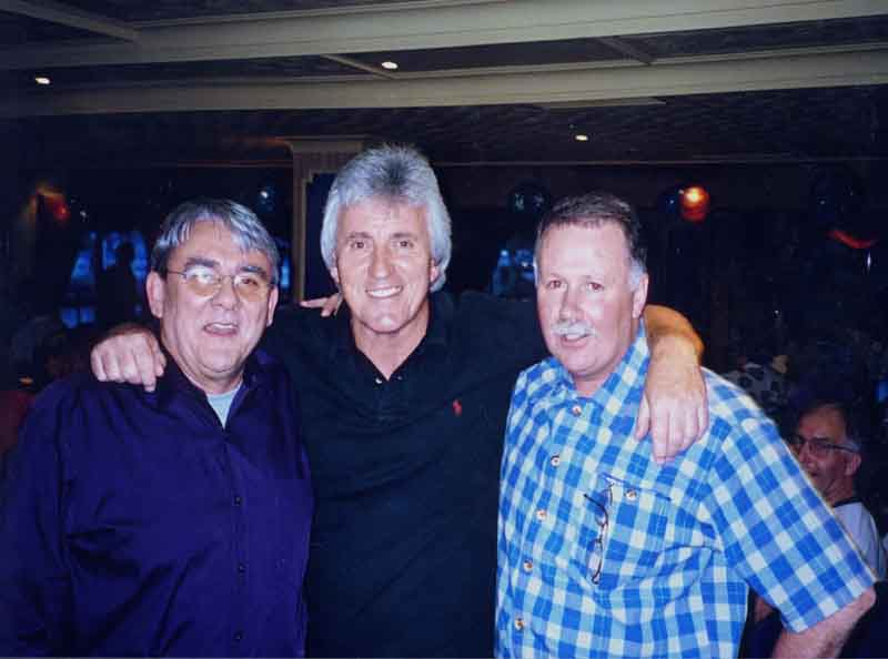 Jim Mullen, Bruce and  Johnno ... the Kiwi sandwich